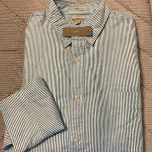 Men's Blue Stripe Oxford - Slim XL
